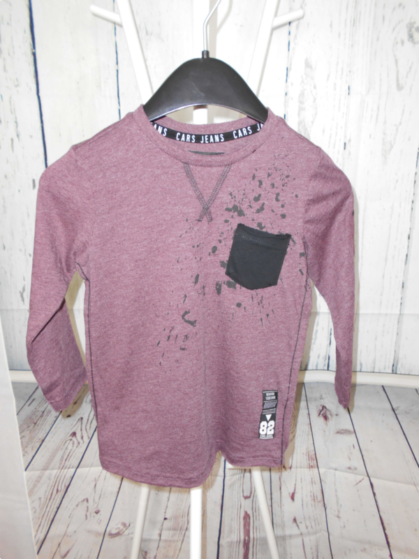 Donkerpaarse longleeve Cars Jeans mt 104