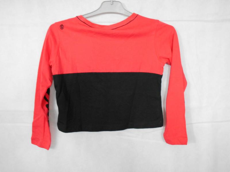 Roze zwarte longsleeve GSUS mt 110/116