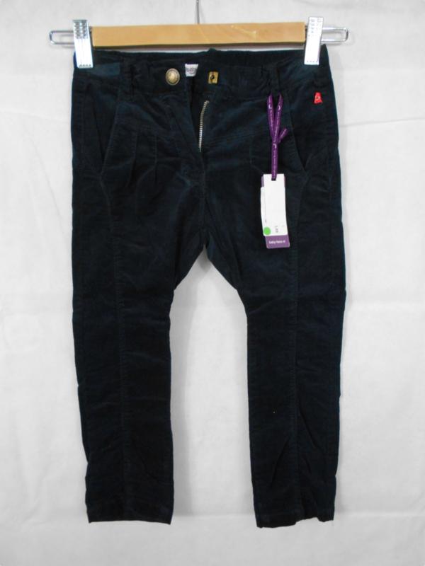 Zwarte ribfluwelen broek BabyFace mt 104