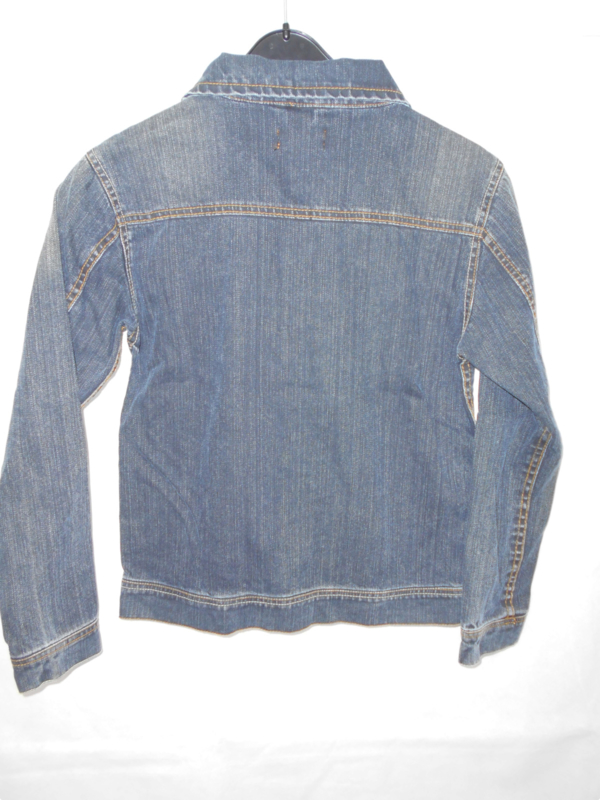 Donkerblauwe jeansvest Bram's Paris mt 170/176