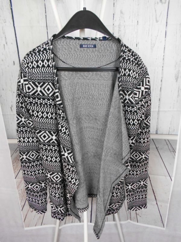 Zwart witte cardigan Blue Seven mt 164