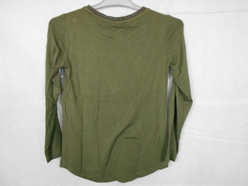 Groen grijze longsleeve GSUS mt 170/176