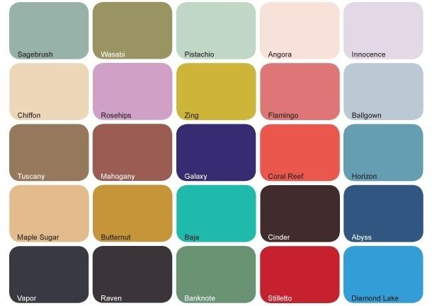 Kleuren voorjaar/zomer 2012