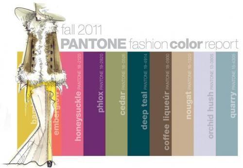 Pantone Najaarskleuren 2011