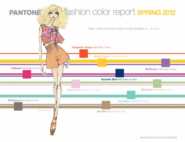 Trendkleuren voorjaar 2012