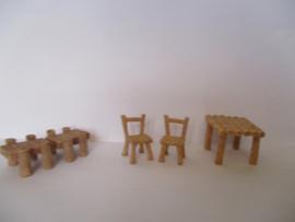 1 pcs tafel of 2 stuks stoel licht