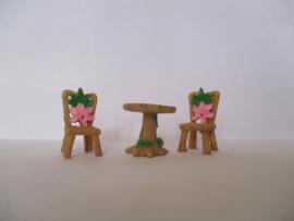 1 pcs tafel of 2 stuks stoel met bleom licht