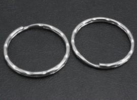 Geribbelde sleutelhanger ringen