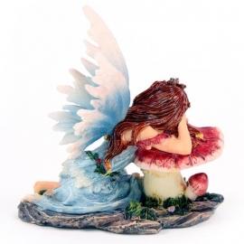 Elfje  Flower Fairy Asleep on Toadstool