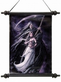 wanddoek ``Summon the reaper``design by Anne Stokes