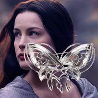 De hobbit lord of the rings arwen avondster vlinder broche/de elfen konings thranduil spider broche pin