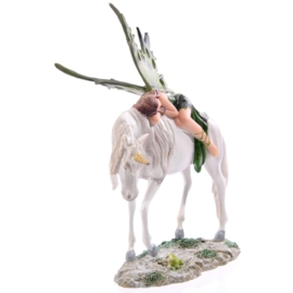 Smaragd Bos Fee op staande eenhoorn