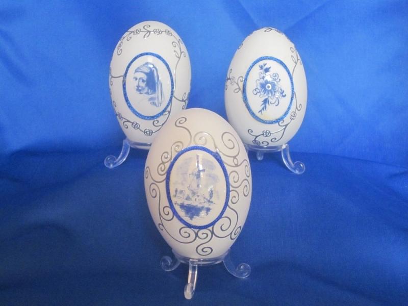 Delfs Blauw ei vrouw met de parel
