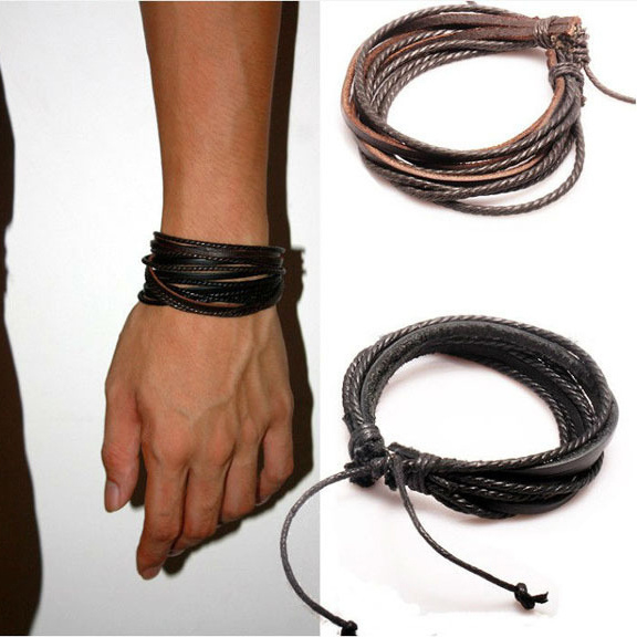 Leren Armband bruin