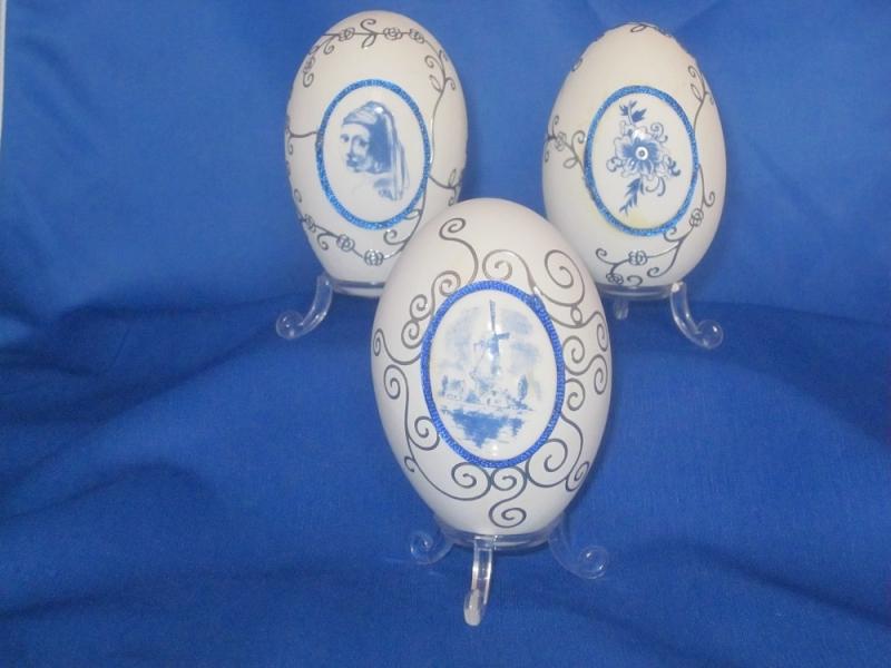 Delfs Blauw ei met molen