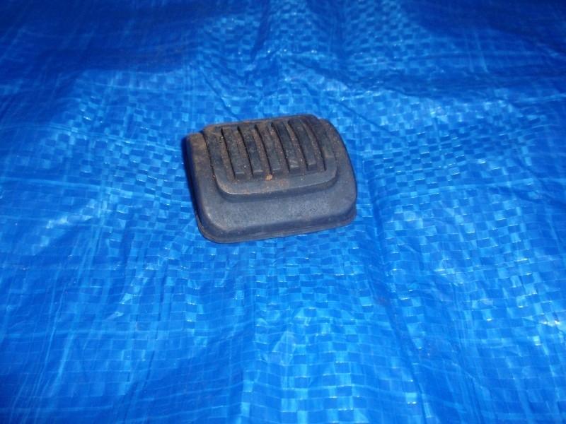 Handrempedaal rubber. (G)
