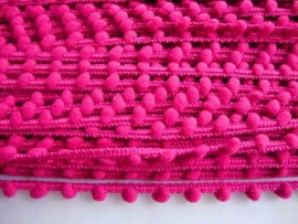 Bolletjesband roze mini