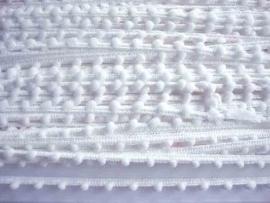 Bolletjesband wit mini