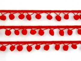Bolletjesband rood