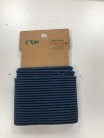 Cuff boordstof blauw zwart