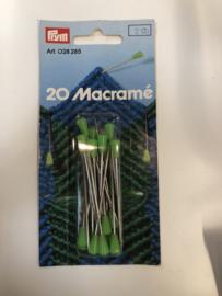 Macramé Naalden 20 stuks