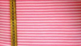 Boordstof roze wit gestreept
