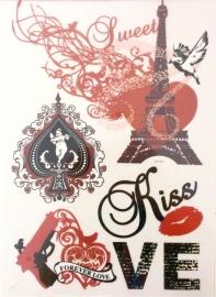 Strijksticker A4 Love