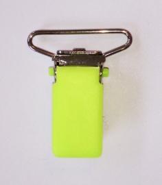 Neongroen bretelclip