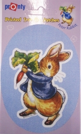Beatrix Potter strijkapplicatie blauw