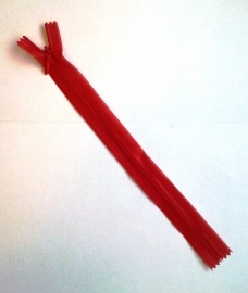 Blinde rits 22 cm Rood 4