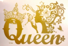 Strijksticker A4 Queen Goud