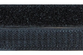 Opnaaibaar Klitteband zwart