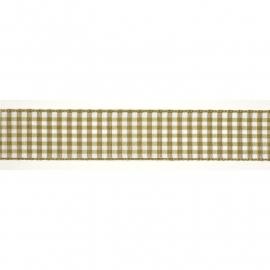 Lint geruit 25 mm beige