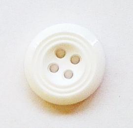 Knoop wit 18 mm