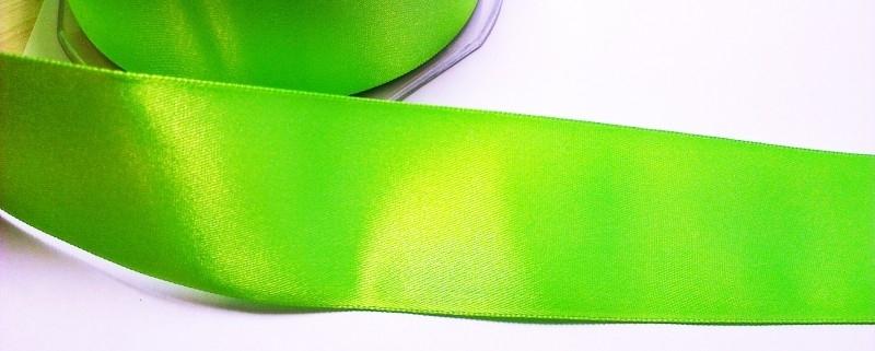 Satijnlint 38 mm neon groen
