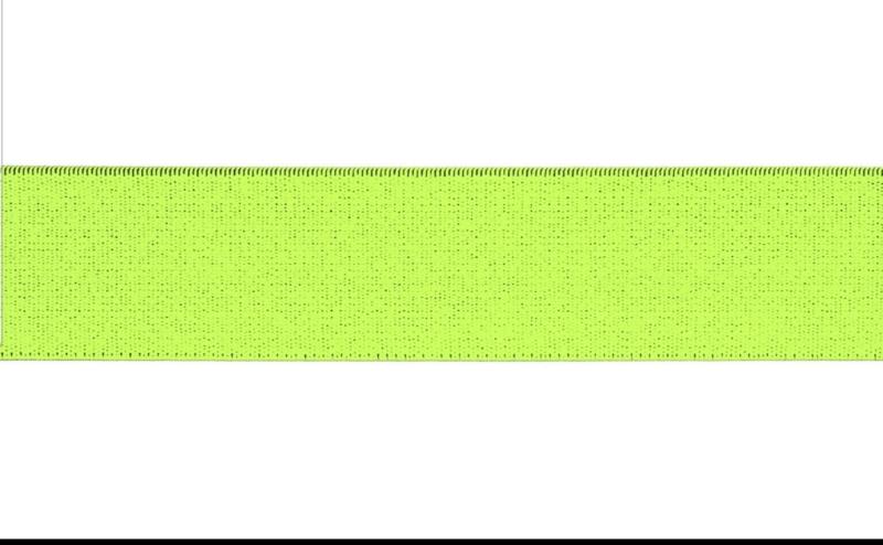 Elastiek neon yellow 30 mm