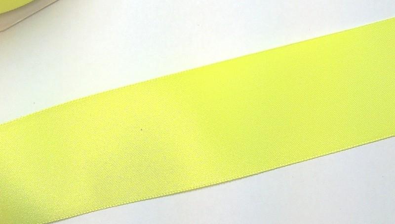 Satijnlint 38 mm neon geel