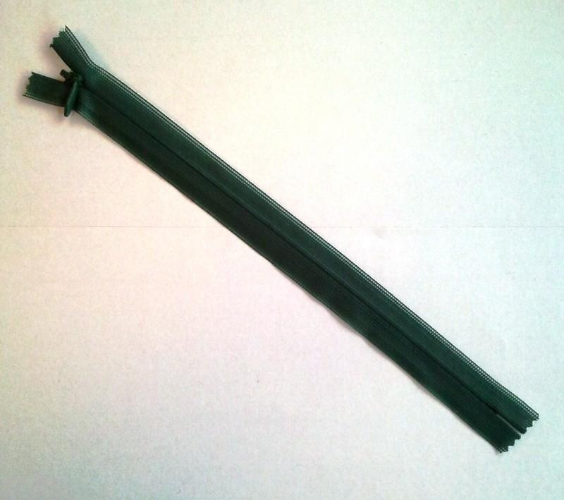Blinde rits 22 cm Donkergroen 10