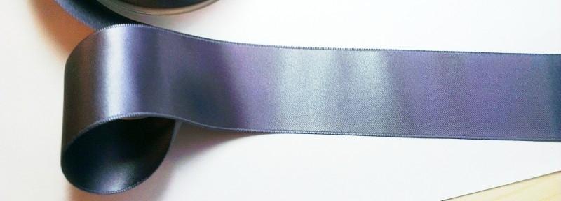 Satijnlint 50 mm grijs