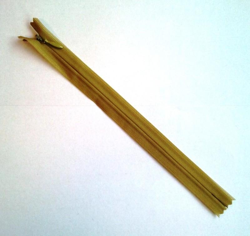 Blinde rits 22 cm Mosterdgroen 7
