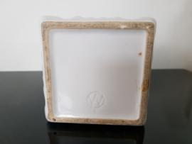 Set aardewerken voorraadpotten met glazen deksel