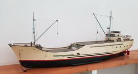 Modelbouw Houten Vrachtschip jaren 60.