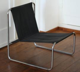 jaren 70 buisframe / canvas fauteuil