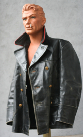 Vintage Lederen PTT jas.