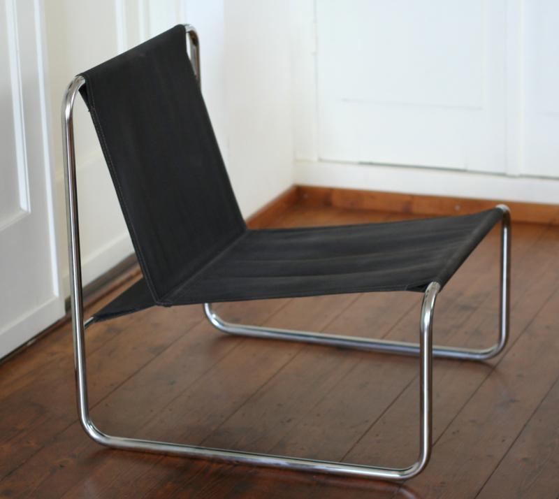 Uitgelezene jaren 70 buisframe / canvas fauteuil   Verkocht Meubelen   markantspul RA-57
