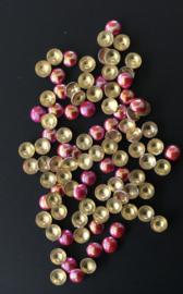 pearly domes fuchsia 4mm 100 stuks
