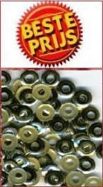 hotfix donut goud 6mm +/- 75 stuks