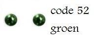 52 2mm domestuds groen 200 stuks + 200 gratis