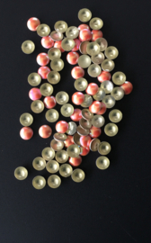 pearly domes zalm rose 4mm 100 stuks