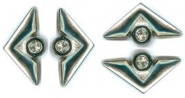 Hotfix jewel triangle 4 stuks